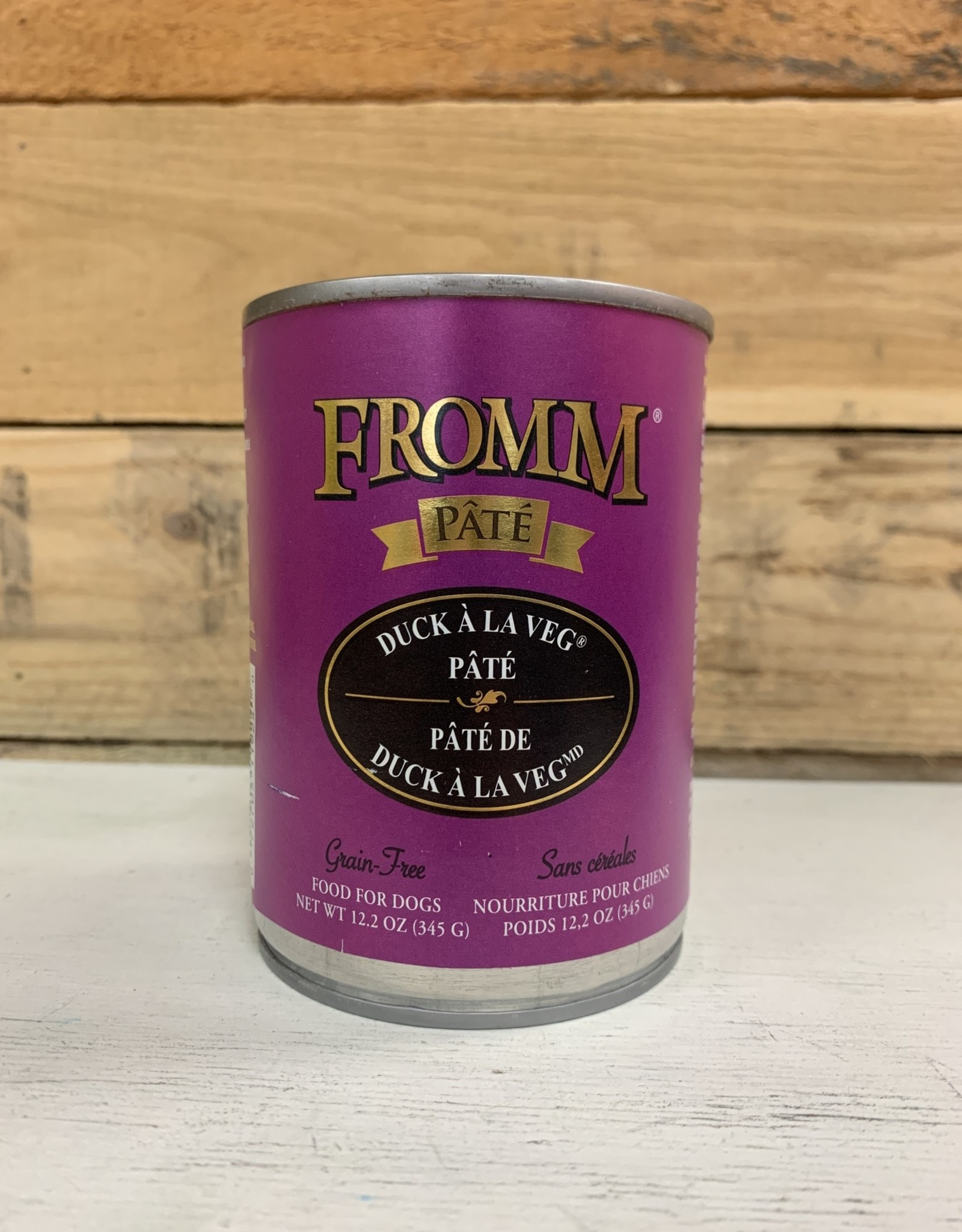 Fromm Family Foods Fromm Can Duck A La Veg Pate 12.2 oz Dog