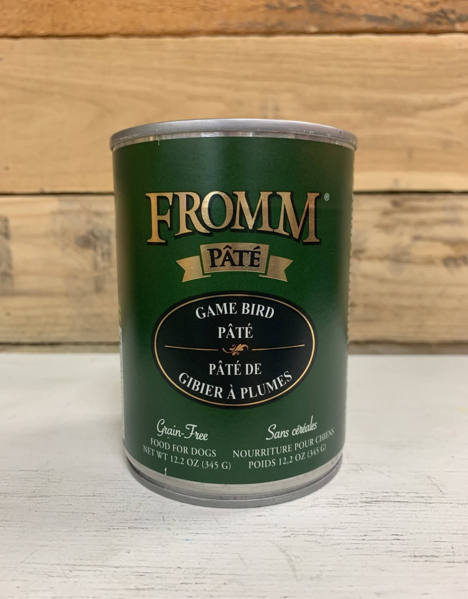 Fromm Family Foods Fromm Can GF Gamebird Pate 12.2 oz Dog