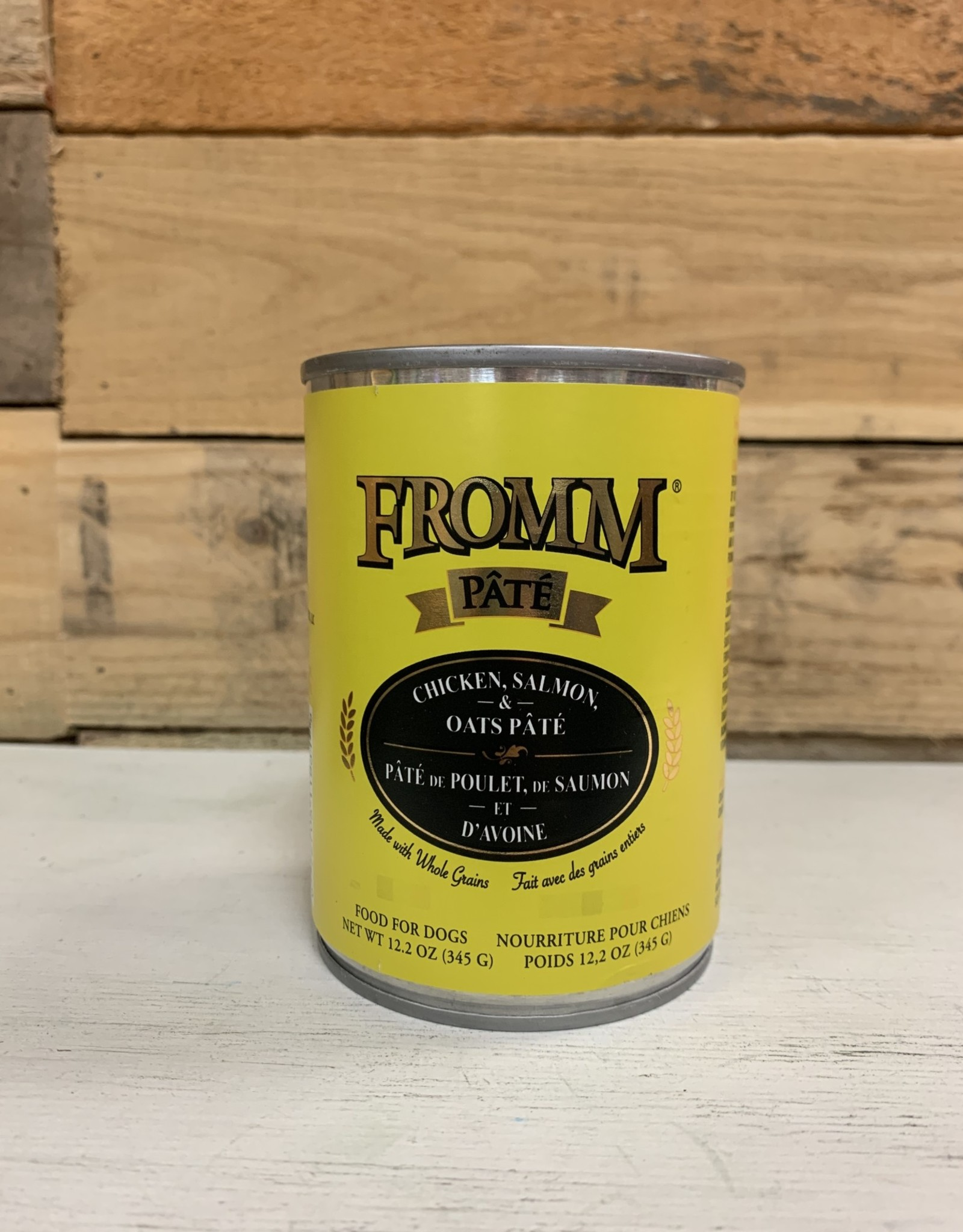 Fromm Family Foods Fromm Can Chicken Salmon & Oats Pate 12.2 oz Dog