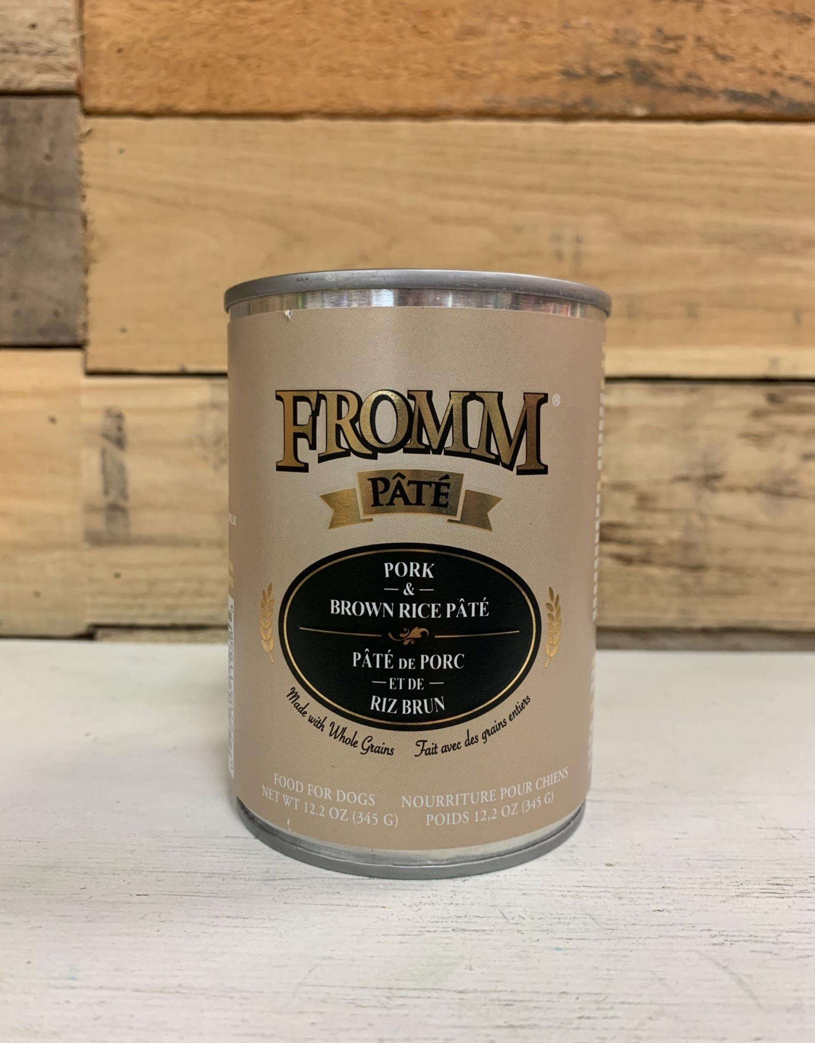 Fromm Family Foods Fromm Can Pork & Brown Rice Pate 12.2 oz Dog
