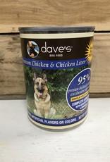 Daves Pet Food Daves 95% Chicken & Liver Dog 12.5oz