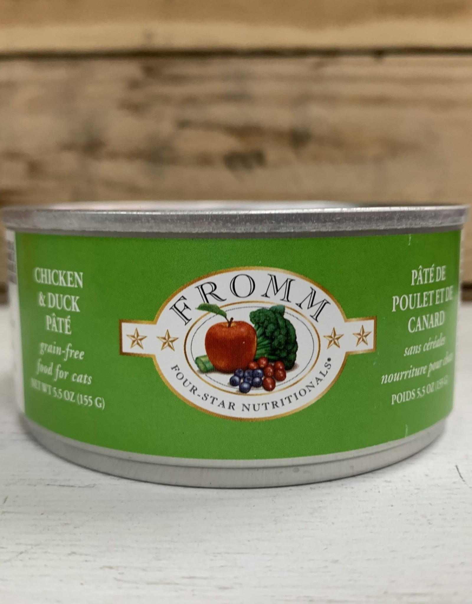 Fromm Family Foods Fromm 4STAR CAN chicken & Duck cat 5.5oz