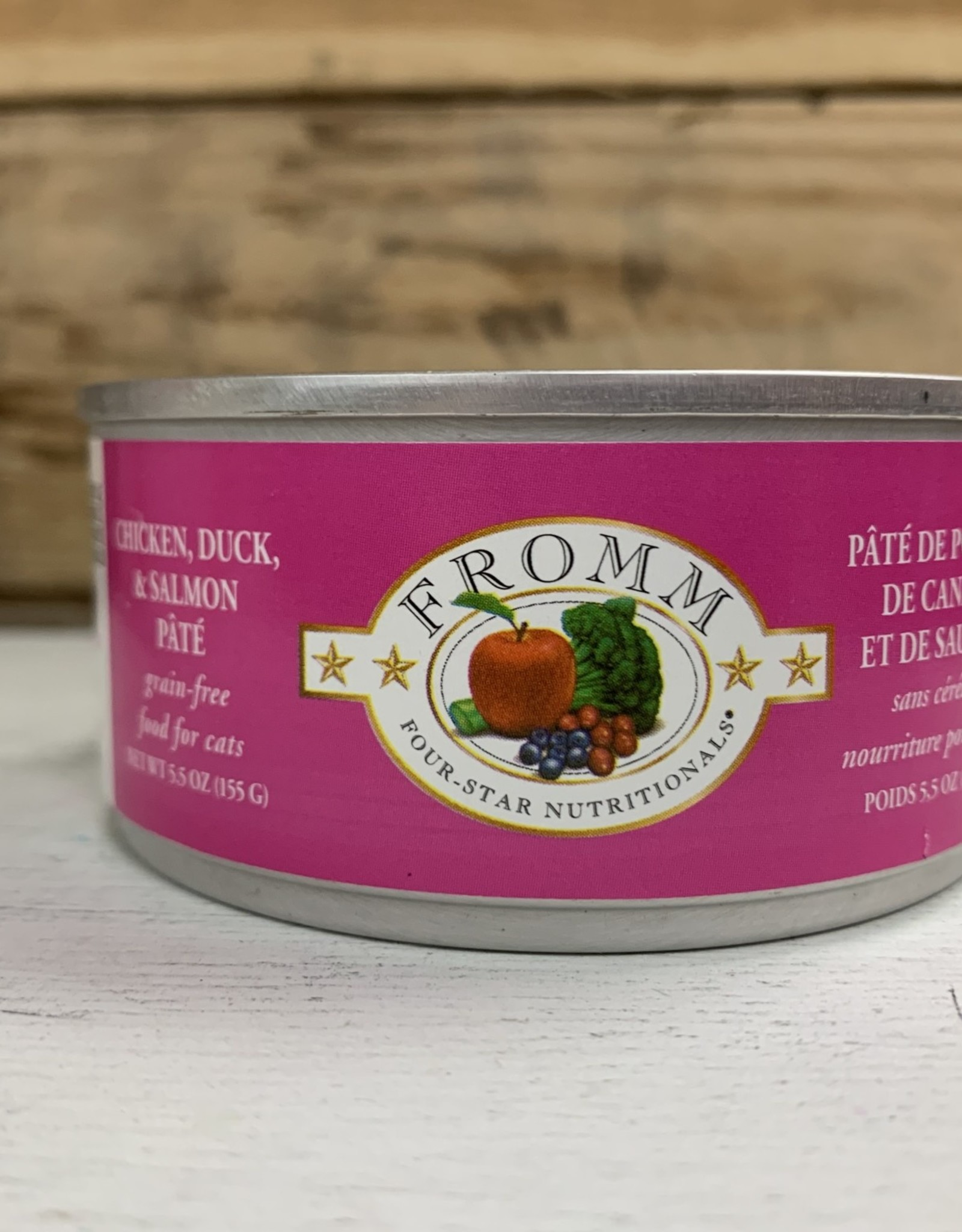 Fromm Family Foods FROMM 4STAR can CKN DCK SMN cat 5.5oz