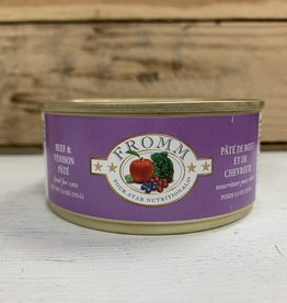 Fromm Family Foods FROMM 4STAR can BF & venison cat 5.5oz