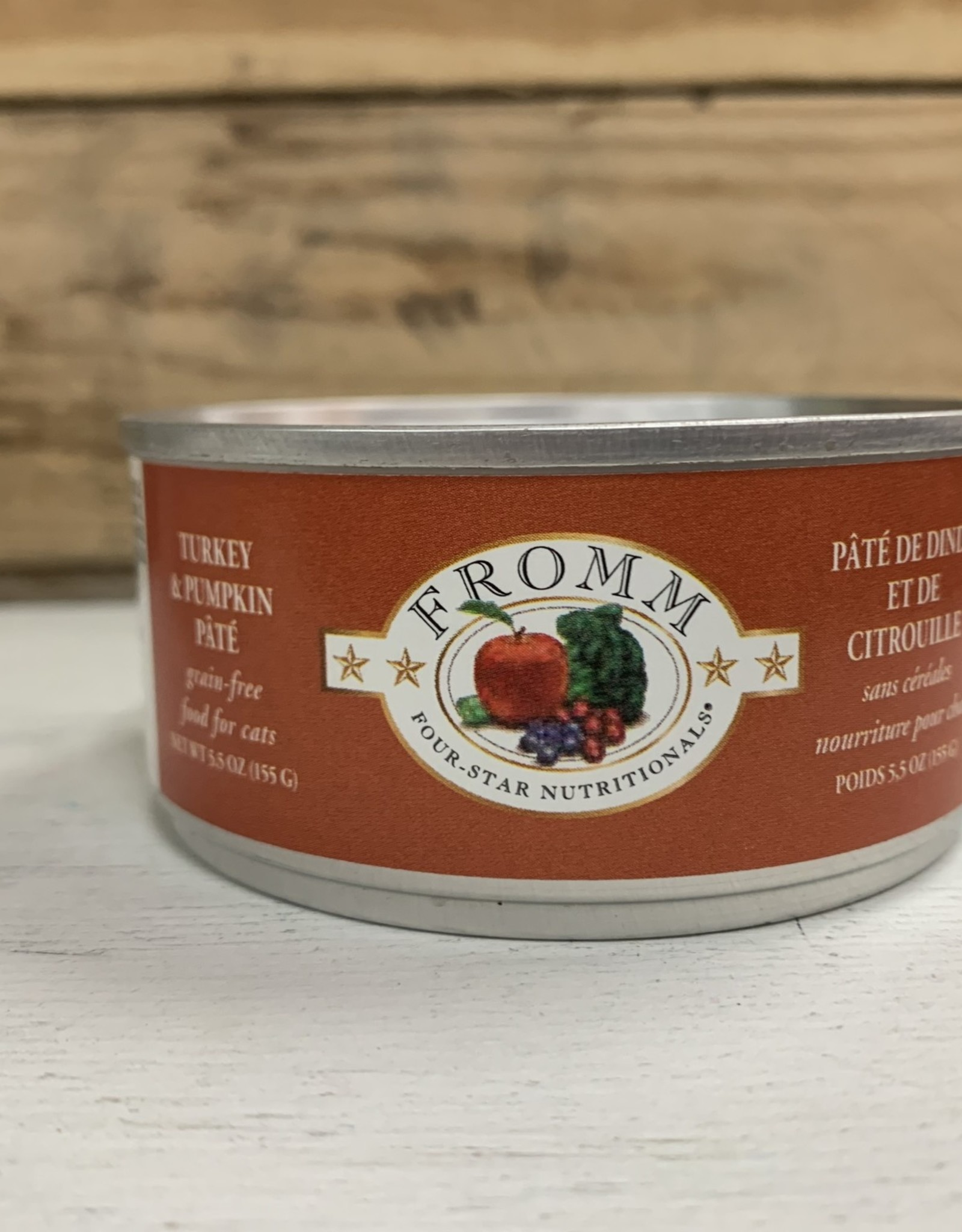 Fromm Family Foods Fromm GF 4STAR can Turkey and Pumpkin pate cat 5.5oz