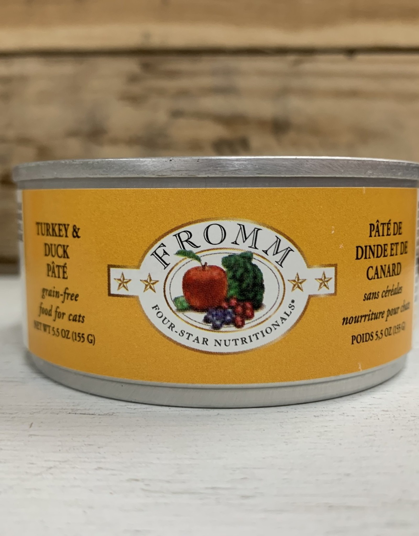 Fromm Family Foods FROMM 4STAR can Turkey & duck cat 5.5OZ