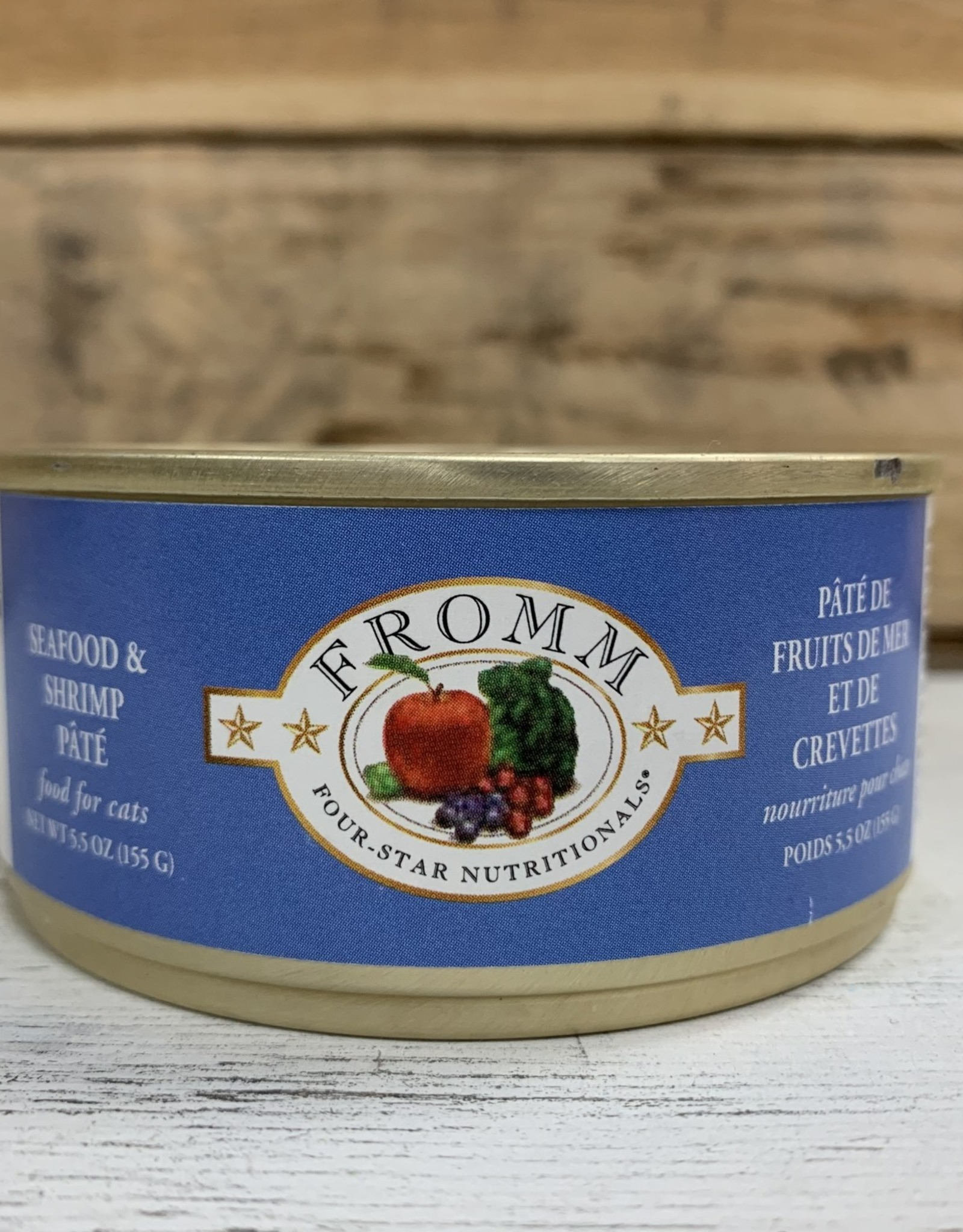 Fromm Family Foods Fromm 4Star Can Seafood and shrimp cat 5.5oz