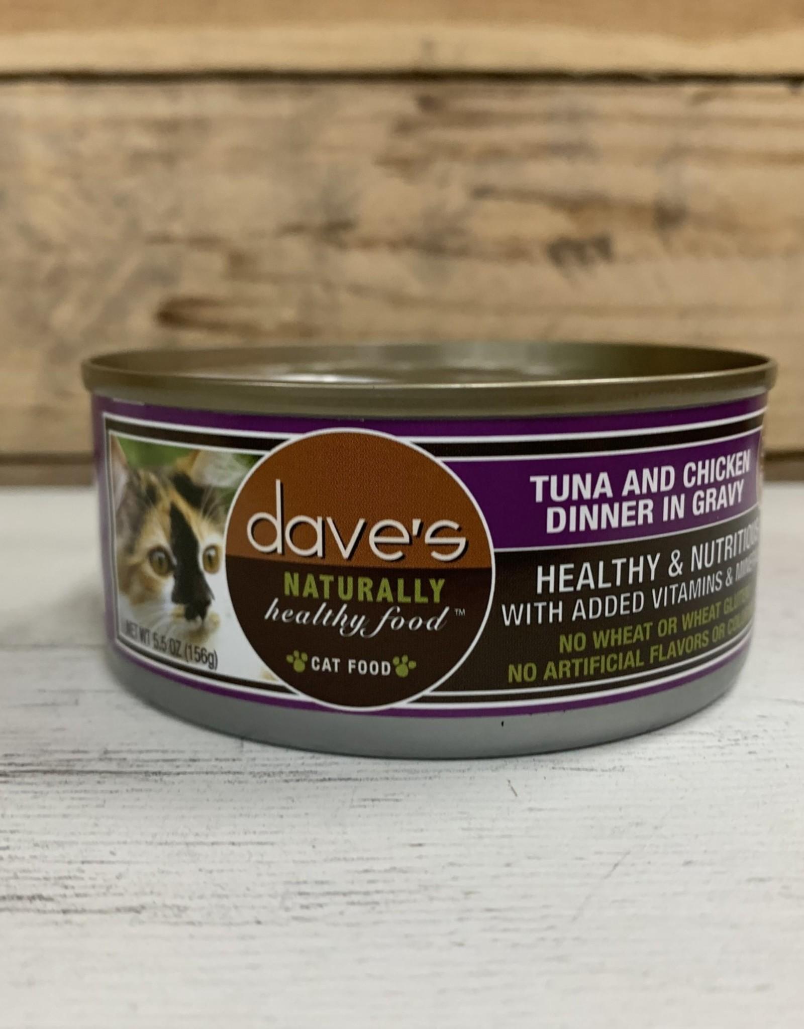 Daves Pet Food Daves NH Tuna Chicken gravy cat 5.5oz