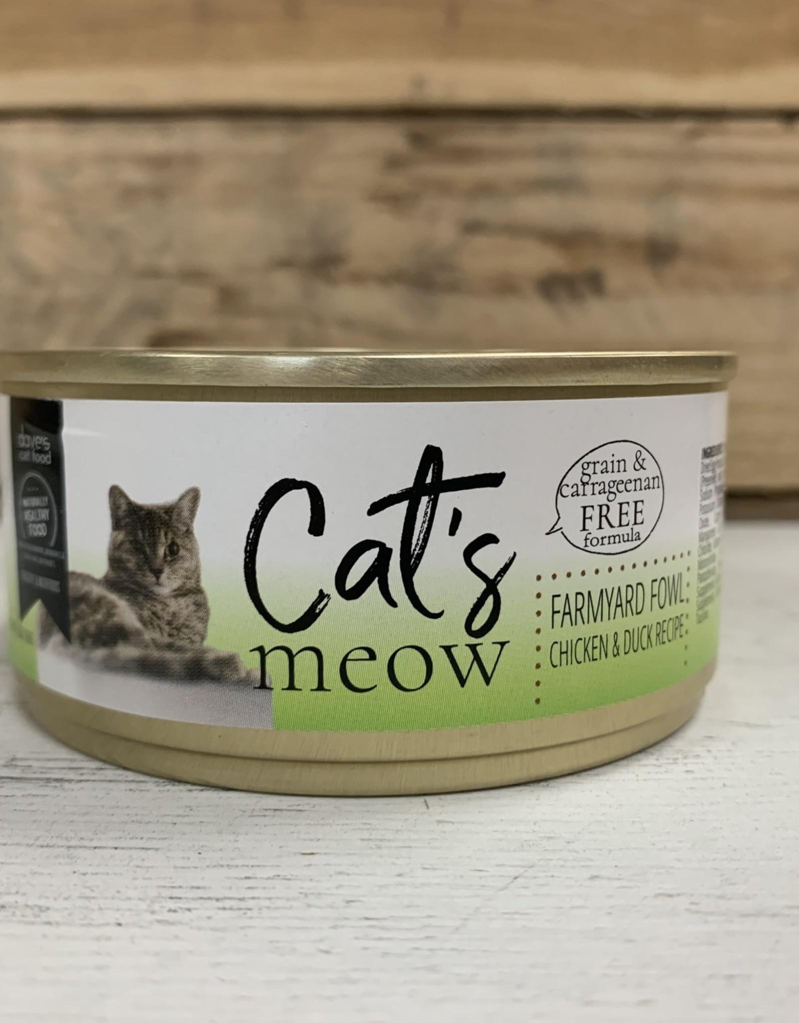 Daves Pet Food Daves Cats Meow Farmyard Fowl cat 5.5oz