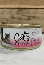 Daves Pet Food Daves Cats Meow 95% Beef/beef liver cat 5.5oz