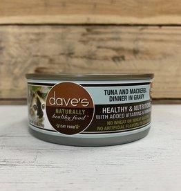 Daves Pet Food Daves NH Tuna Mackerel cat 5.5oz