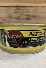 Daves Pet Food Daves NH Chick&Herring cat 5.5oz