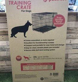 Petcrest Double Door Crate Black 48X30