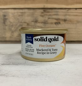 Solid Gold Solid Gold 5 Oceans mackerel and tuna cat 3oz