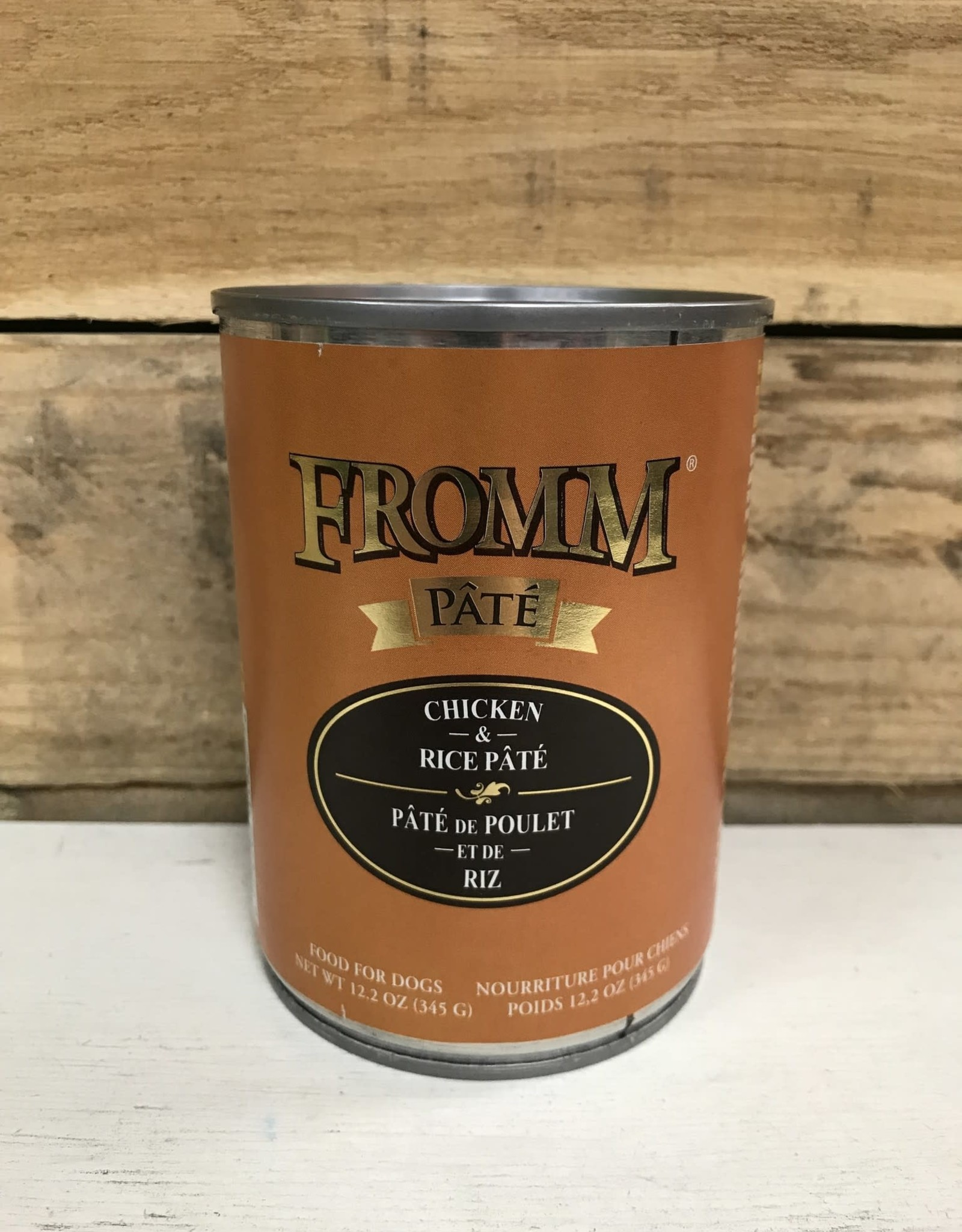 Fromm Family Foods fromm Gold can chicken and rice pate dog 12oz