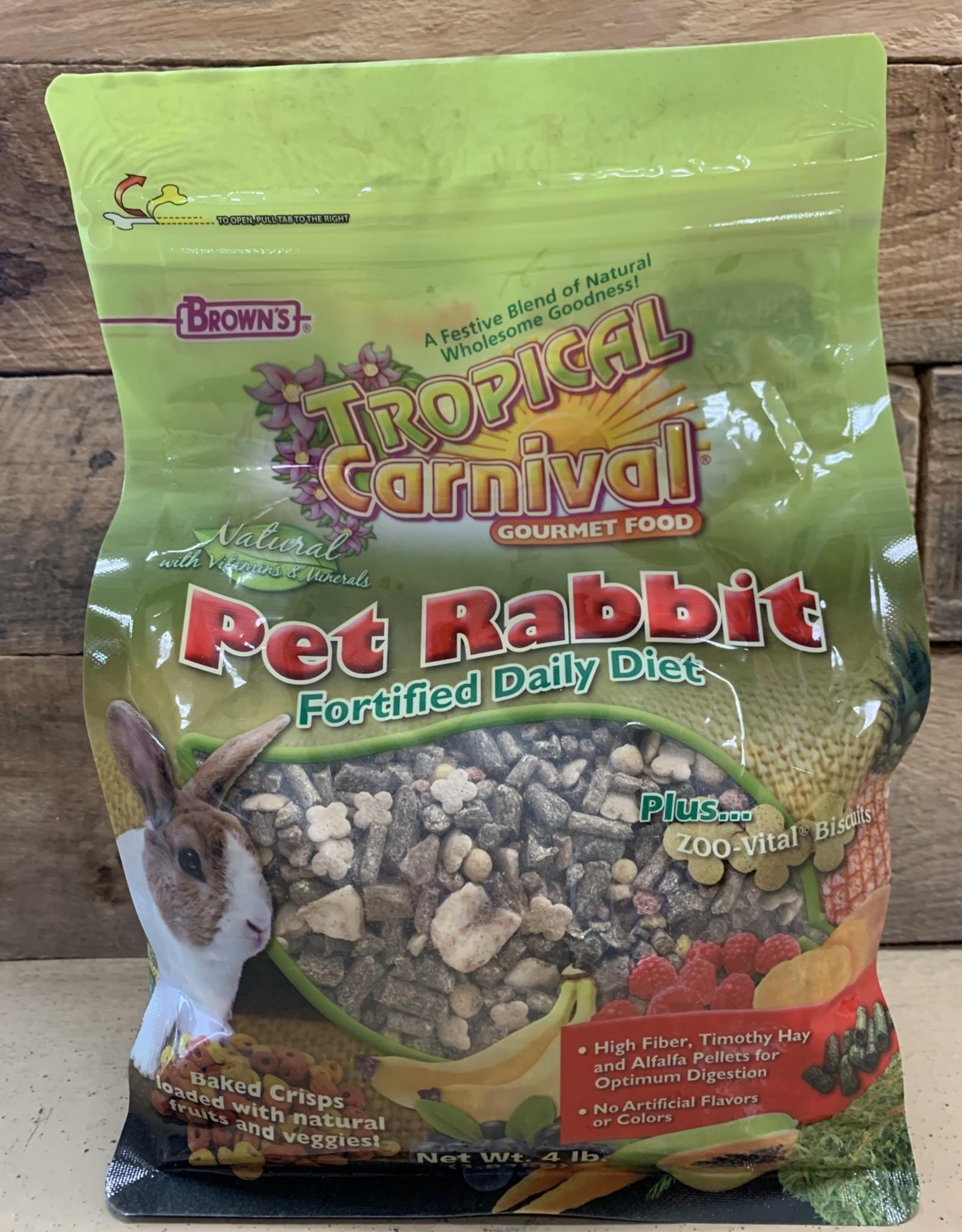 Fm Browns Tropical Carnival Rabbit Food 4#