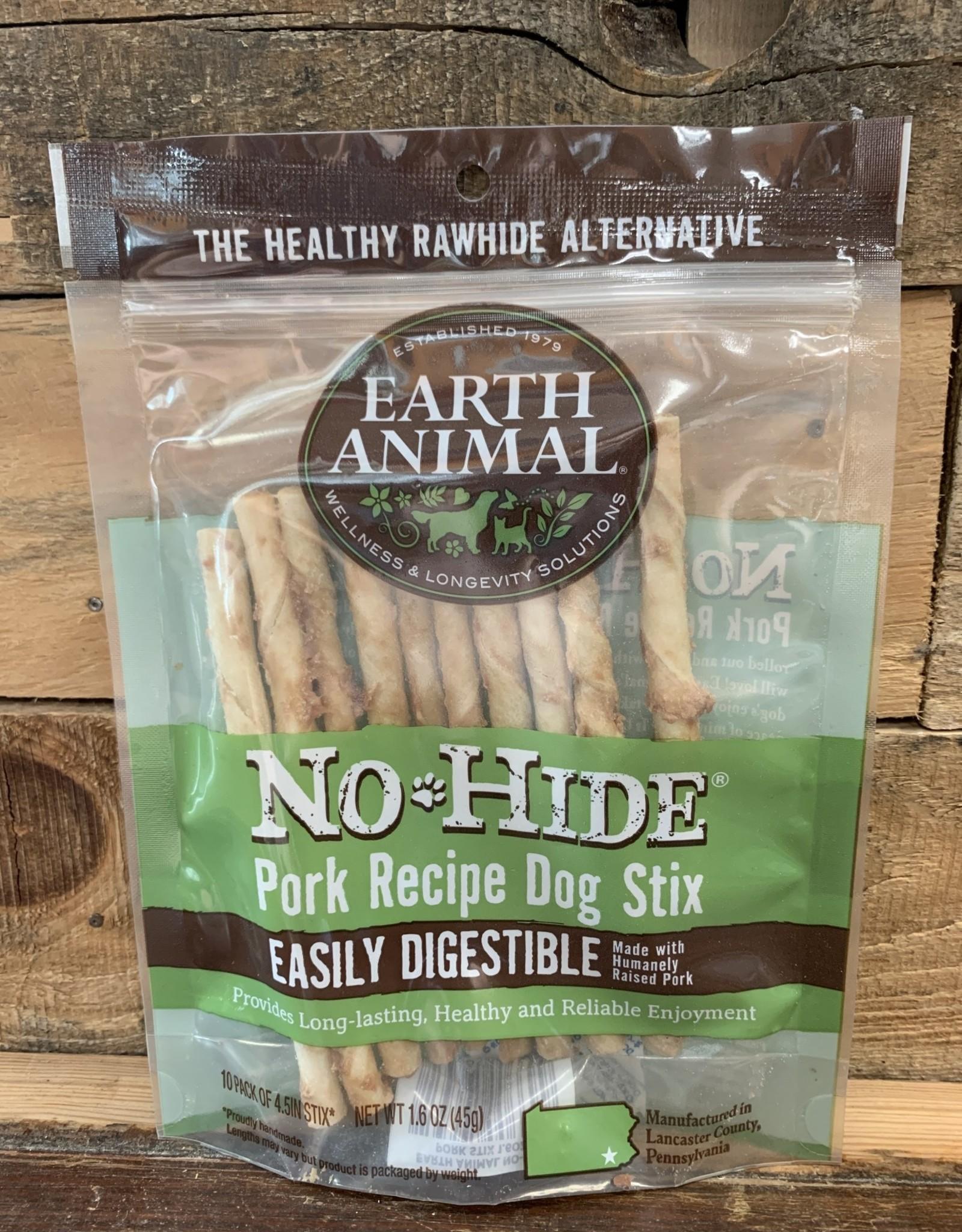 EARTH ANIMAL DOG NO-HIDE 10 pk PORK
