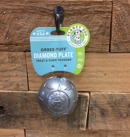 """Outward Hound - Planet dog Planet dog diamond plate ball steel 3"""" Made in USA"""