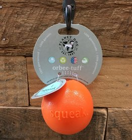 Outward Hound - Planet dog planet dog Orbee tuff squeak Orange Made in USA