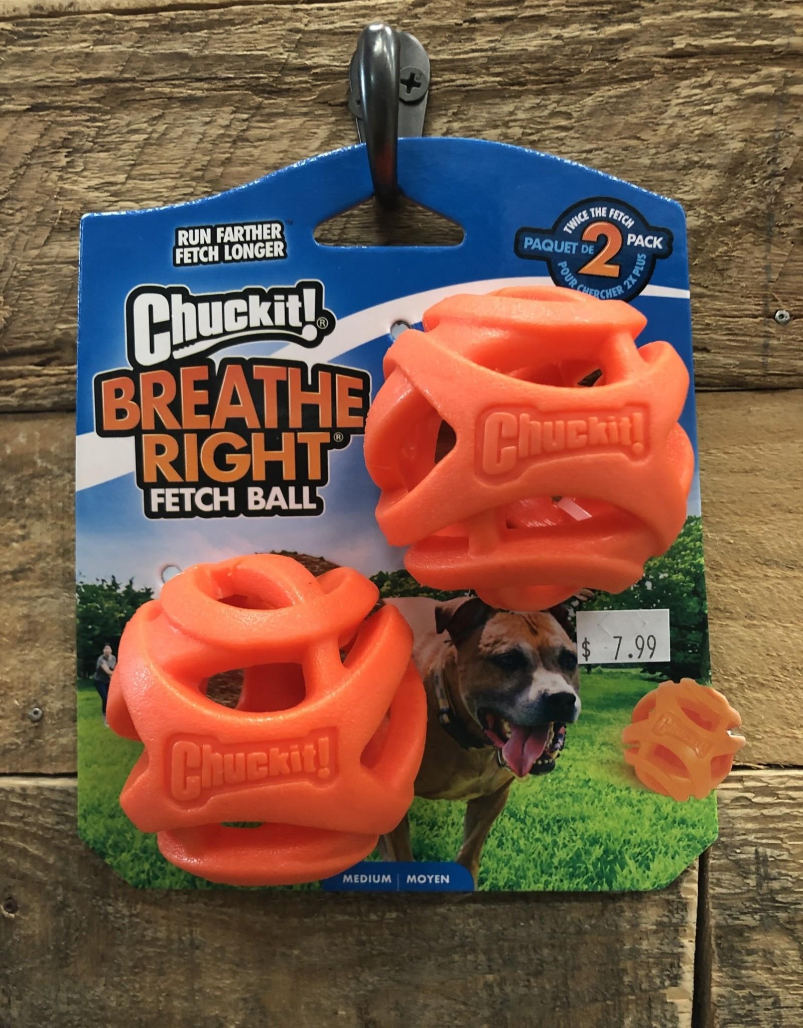 ChuckIt Chuck It Breathe Right Ball Med. 2pk