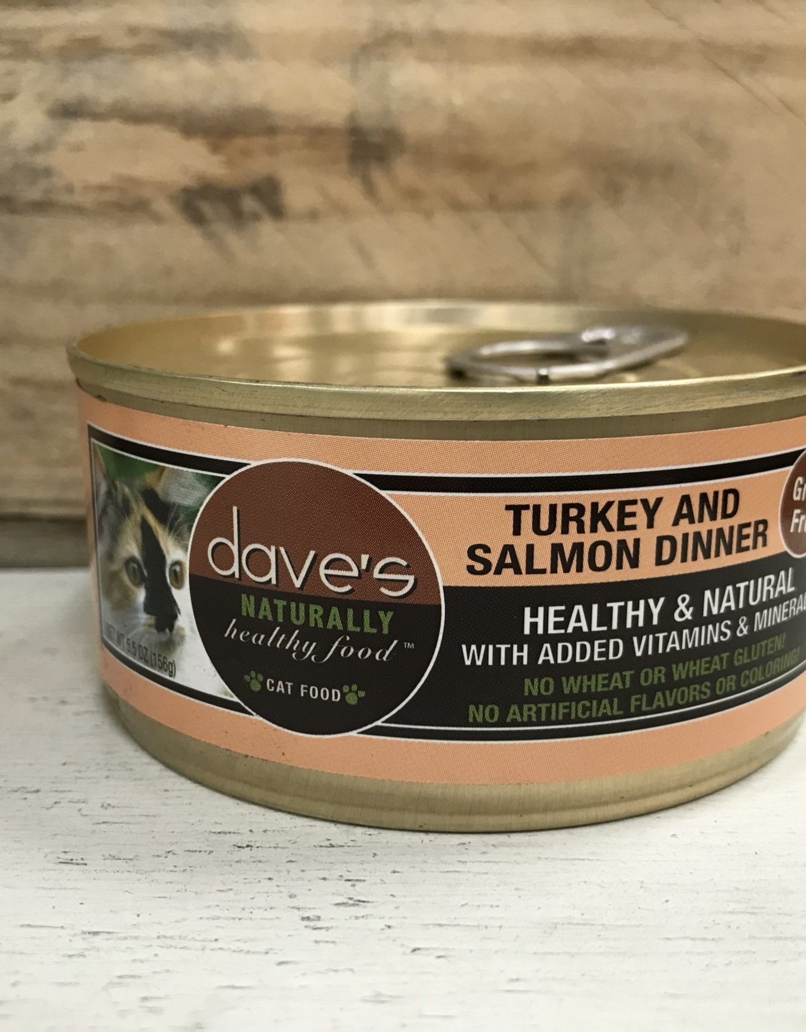 Daves Pet Food Daves NH Turkey&Salmon cat 5.5oz