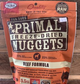 Primal freeze-dried beef nuggets 5.5oz
