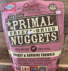 Primal Freeze-Dried Turkey & Sardine Nuggets 14 oz