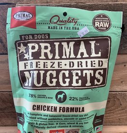 Primal dog freeze-dried chicken nuggets 5.5oz