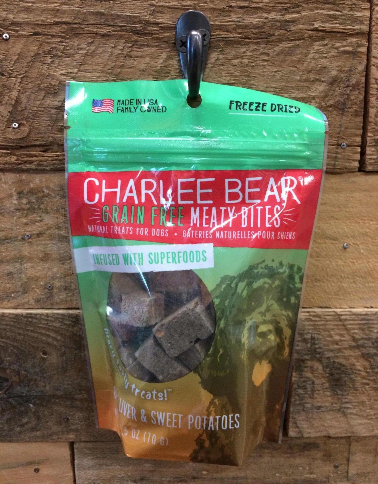 Charlie Bear Farms Charlee Bear Meaty Bites - Beef Liver w/ Sweet Potato 2.5 oz