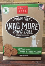 Cloud Star Cloud Star Wag More GF Baked Chick & SW Pot Treat 14oz