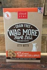 Cloud Star Cloud Star Wag More 7oz GF Itty Bitty Baked PB &Apple