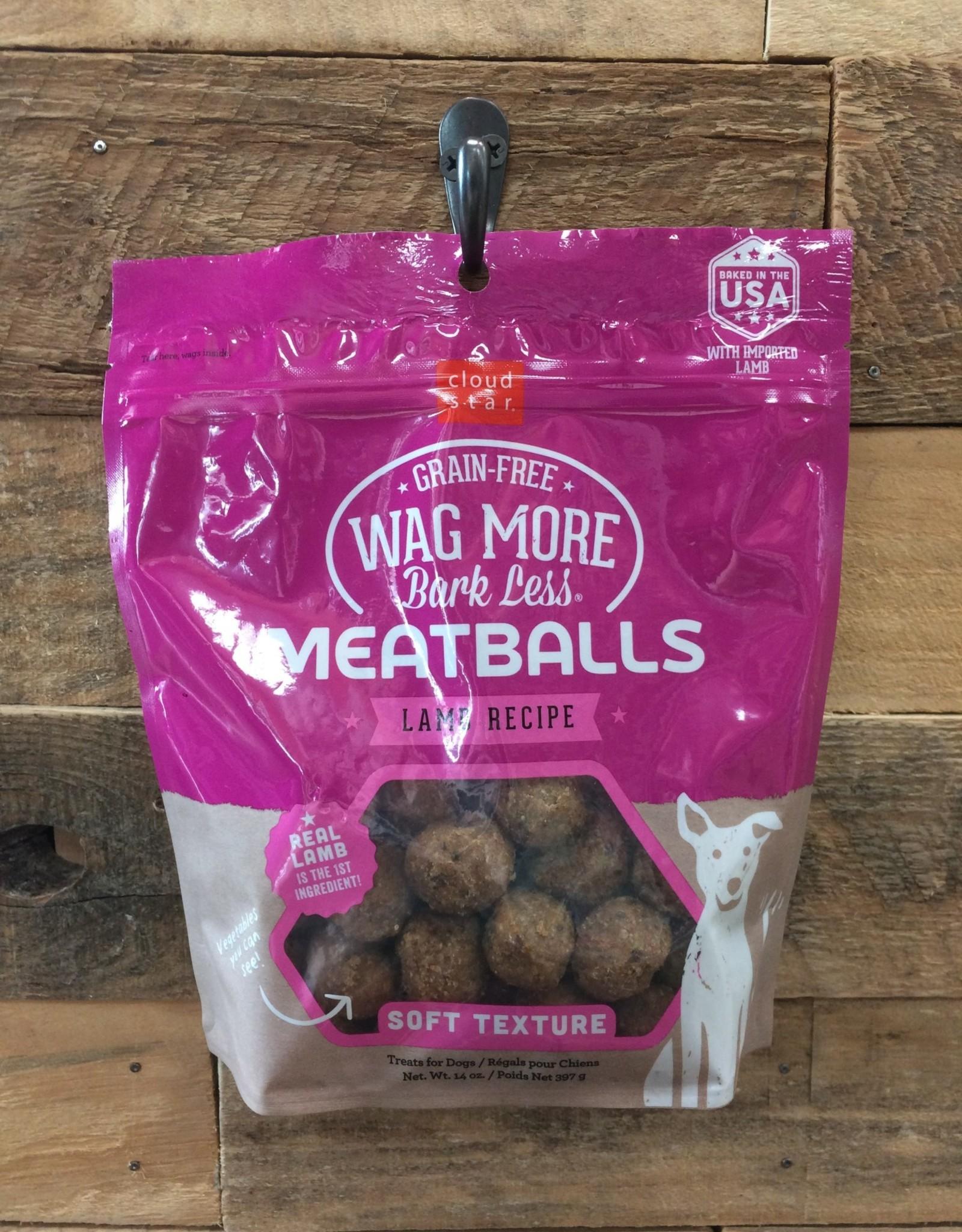 Cloud Star Cloud Star Wag More Meatball Lamb Treat 14oz.