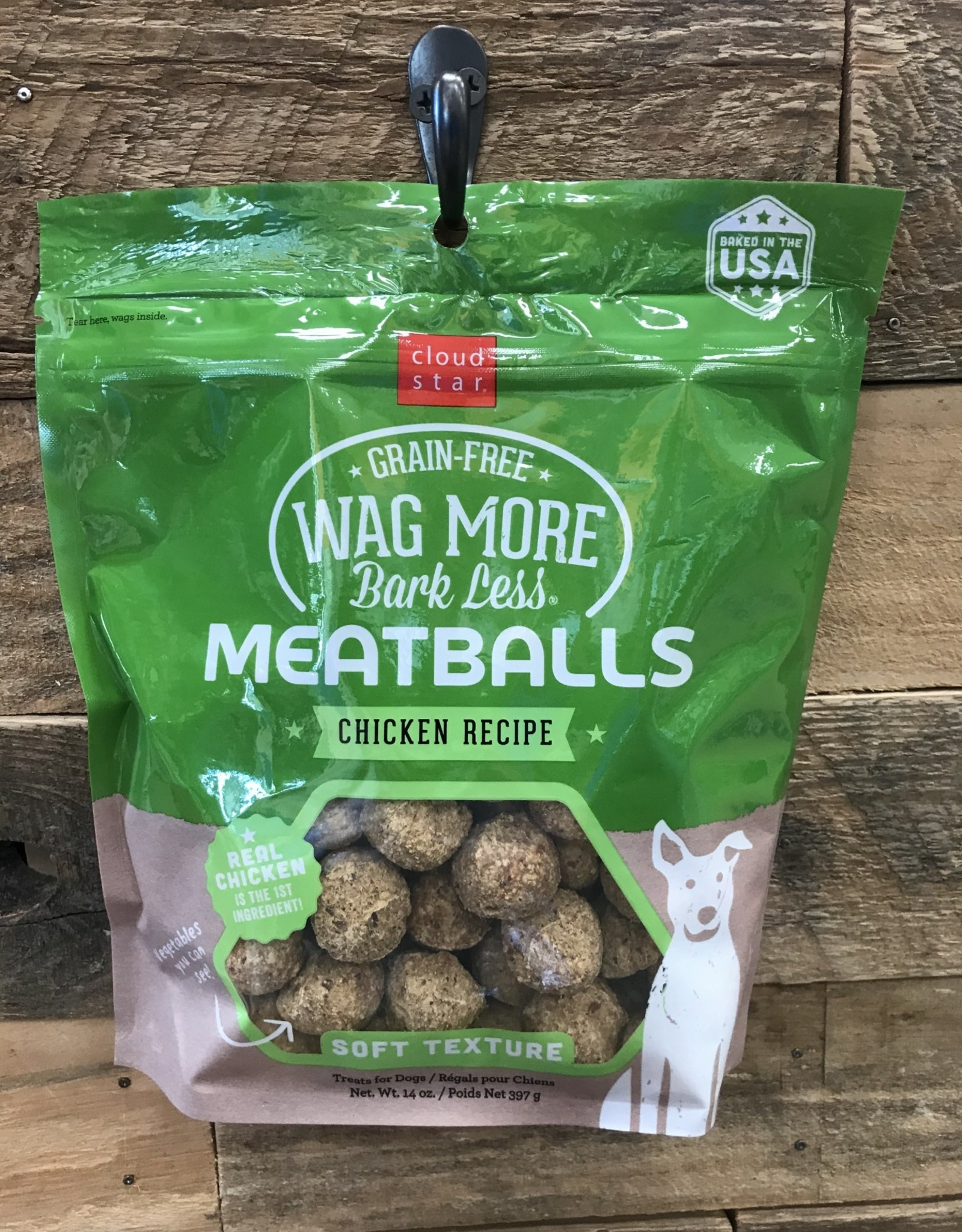Cloud Star Cloud Star Wag More 14oz Meatball Chicken treat