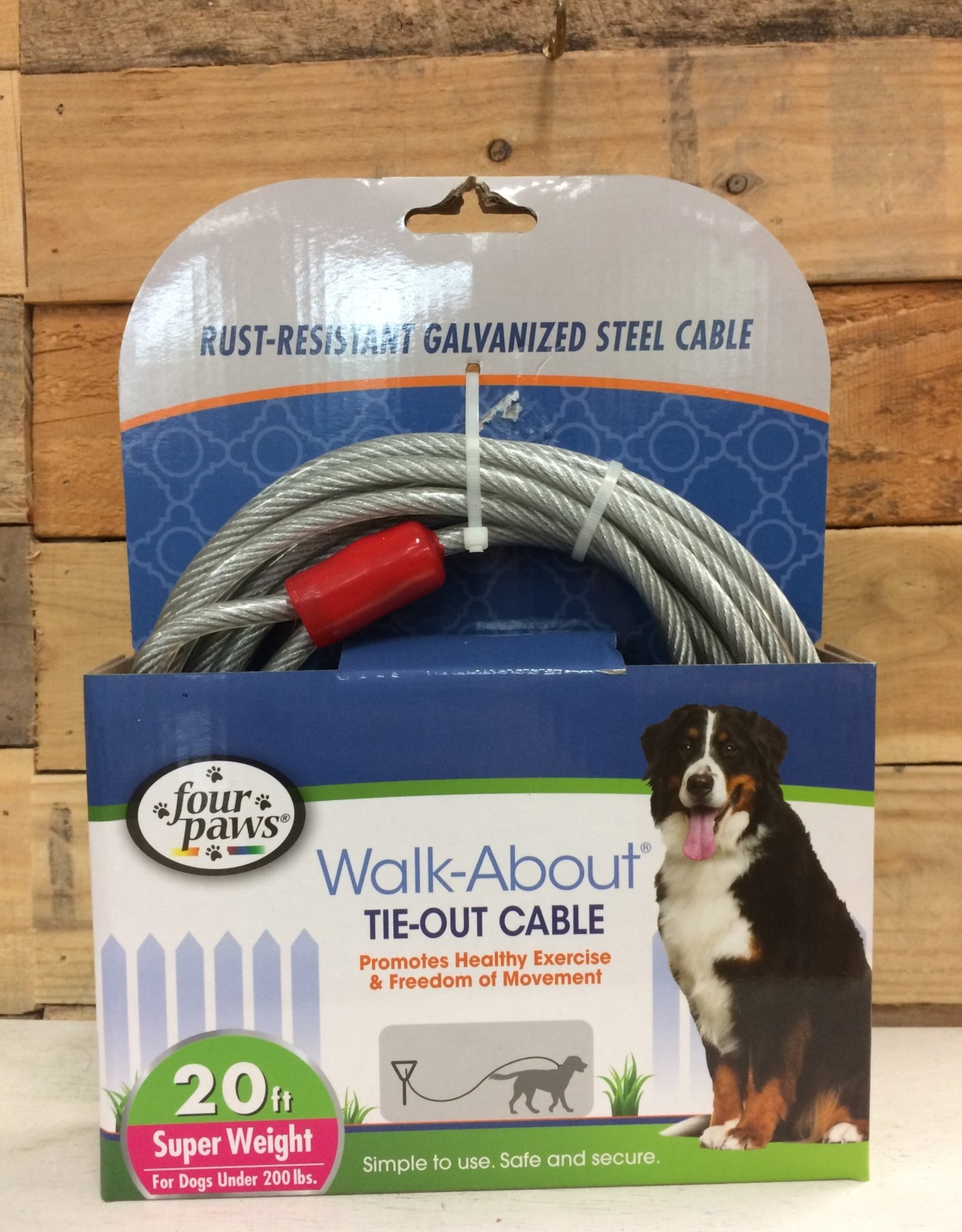 Four Paws Super Tie Out Cable 20FT.