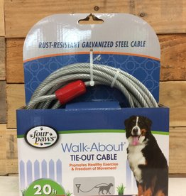 FOUR PAWS 20 FT. SUPER TIE OUT CABLE