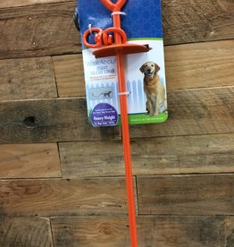 FOUR PAWS 28 IN. GIANT TIE-OUT STAKE - ORANGE