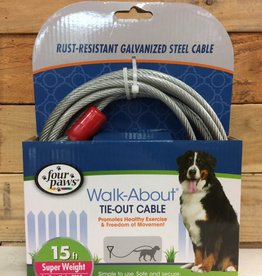 Four Paws Silver Heavy Weight Tie Out 15FT