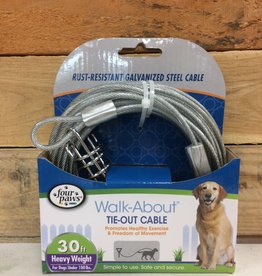 Four Paws Silver 30 ft Heavy WEIGHT TIE OUT