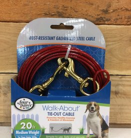 Four Paws Red Weight Tie Out Medium 20ft