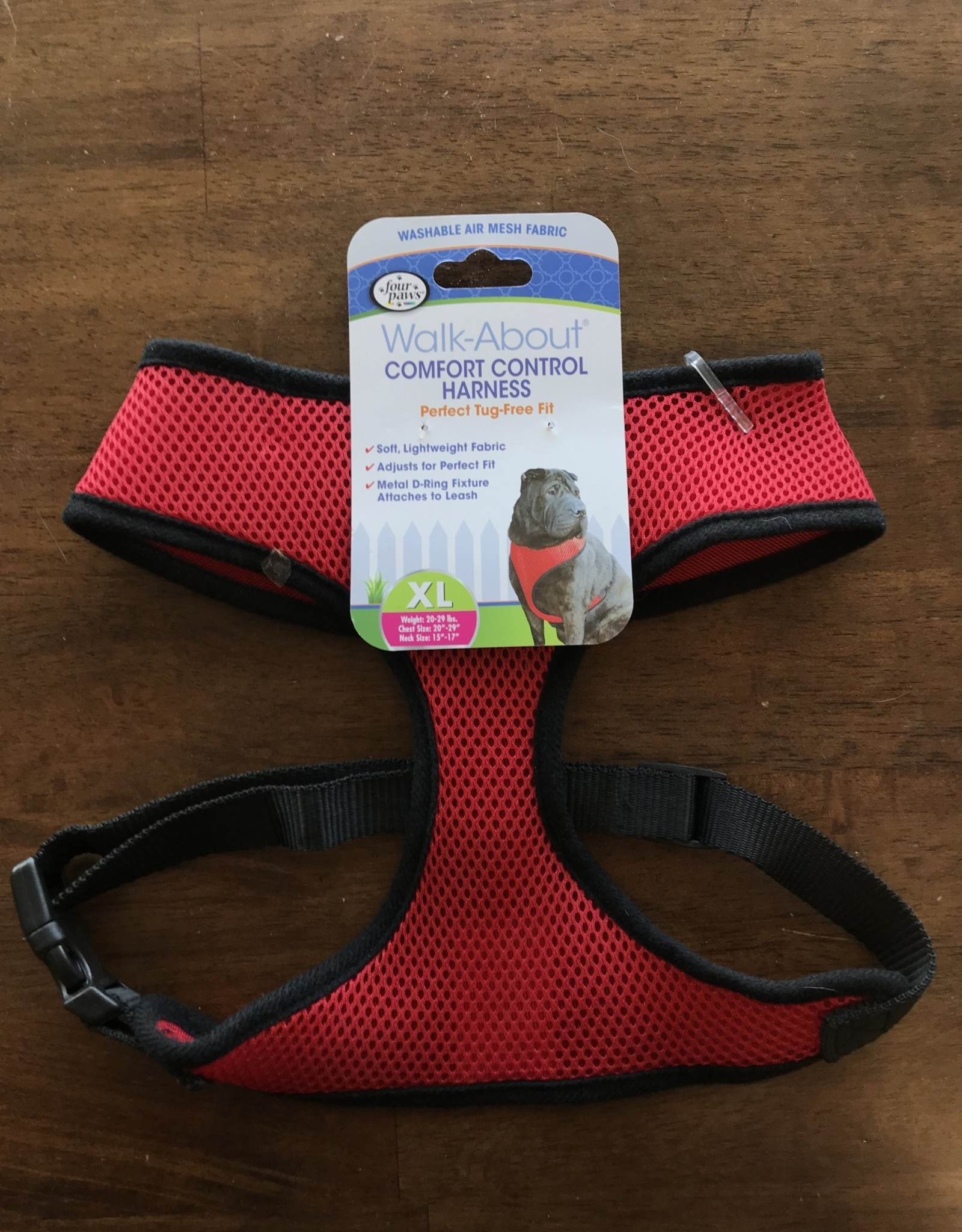 Four Paws XL. RED COMFORT CONTROL HARNESS