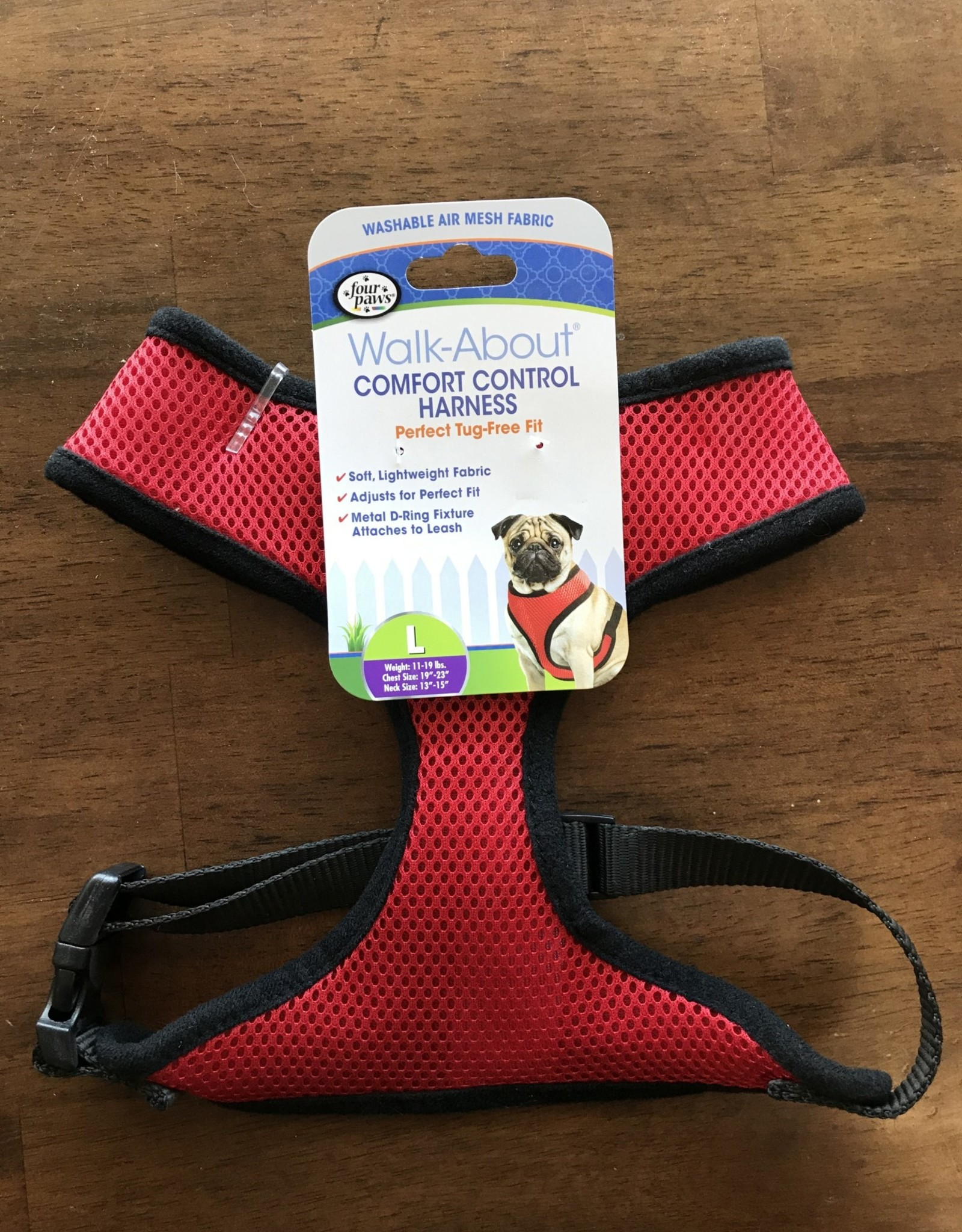 Four Paws LG. RED COMFORT CONTROL HARNESS