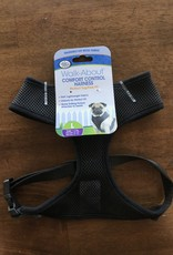 FOUR PAWS BLACK COMFORT CONTROL HARNESS LG