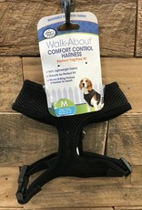 Four Paws MED. BLACK COMFORT CONTROL HARNESS