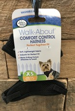 FOUR PAWS XS. BLACK COMFORT CONTROL HARNESS