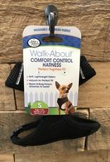 FOUR PAWS SM. BLACK COMFORT CONTROL HARNESS