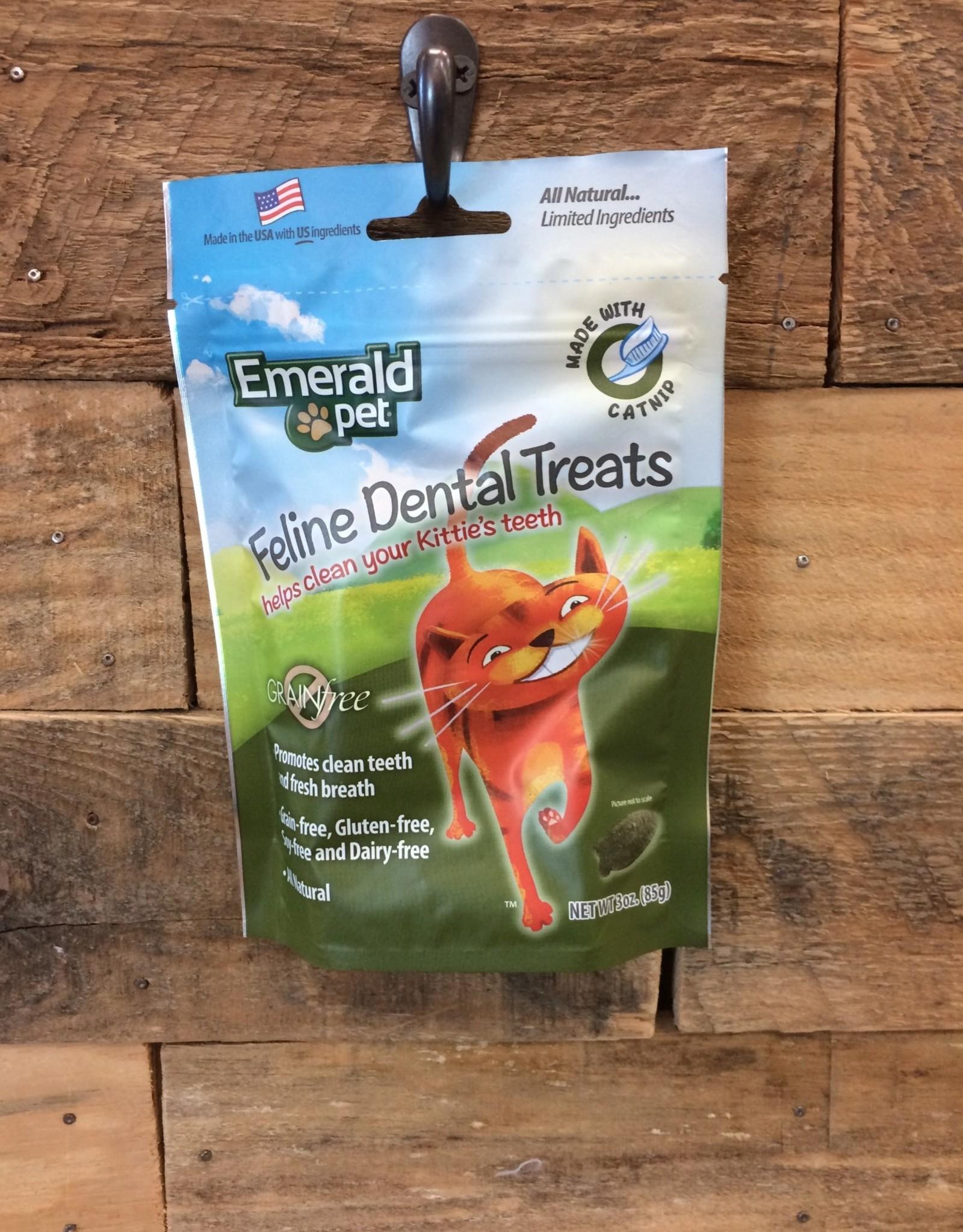 EMERALD PET 3 OZ. DENTAL CAT TREAT - CATNIP