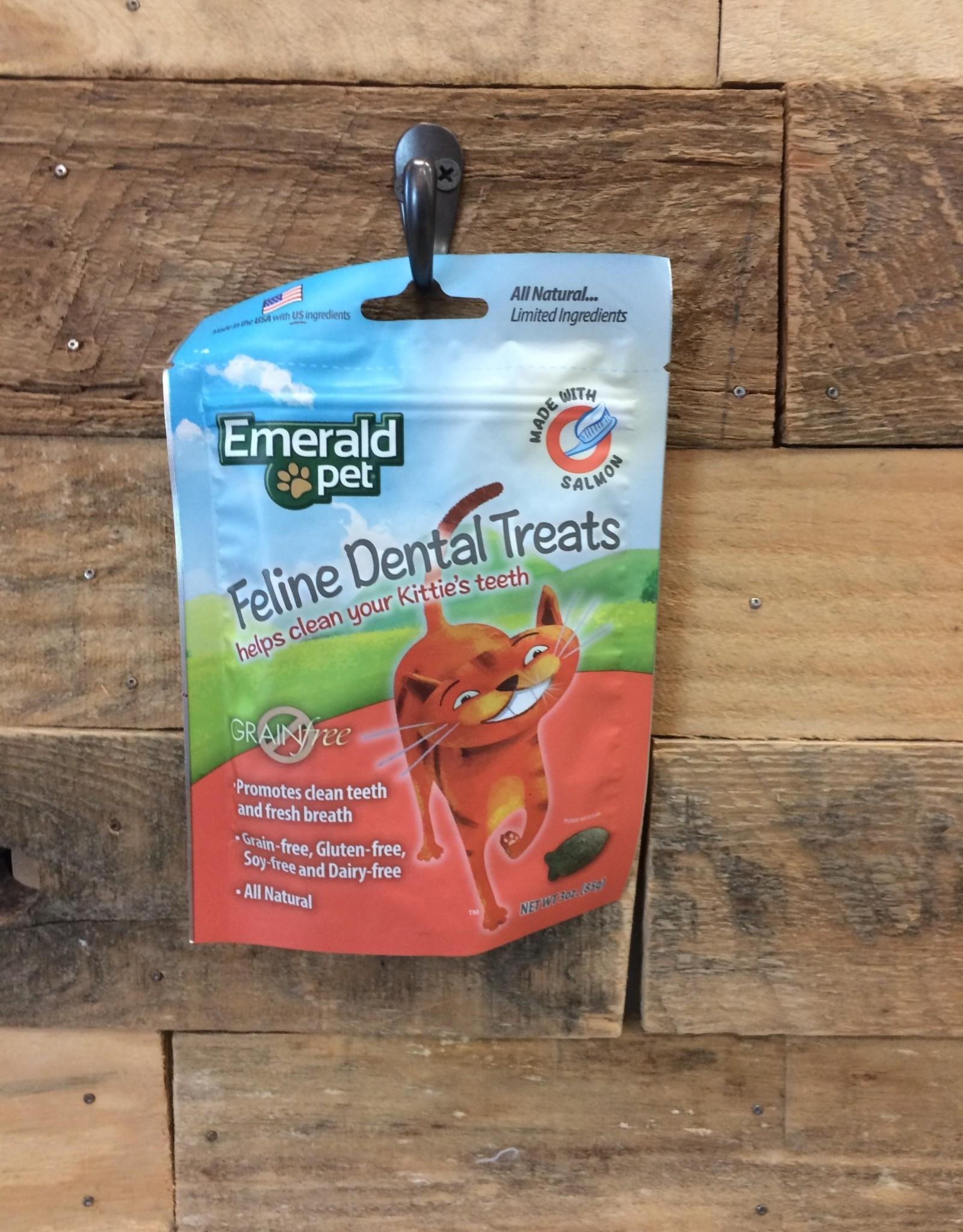 EMERALD PET 3 OZ. DENTAL CAT TREAT - SALMON