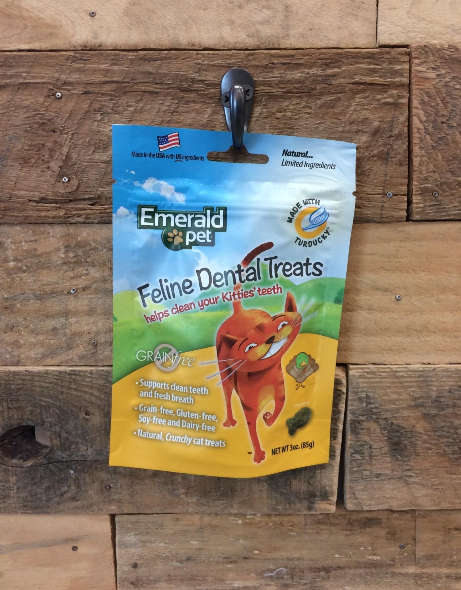 EMERALD PET 3 OZ. DENTAL CAT TREAT - TURDUCKY