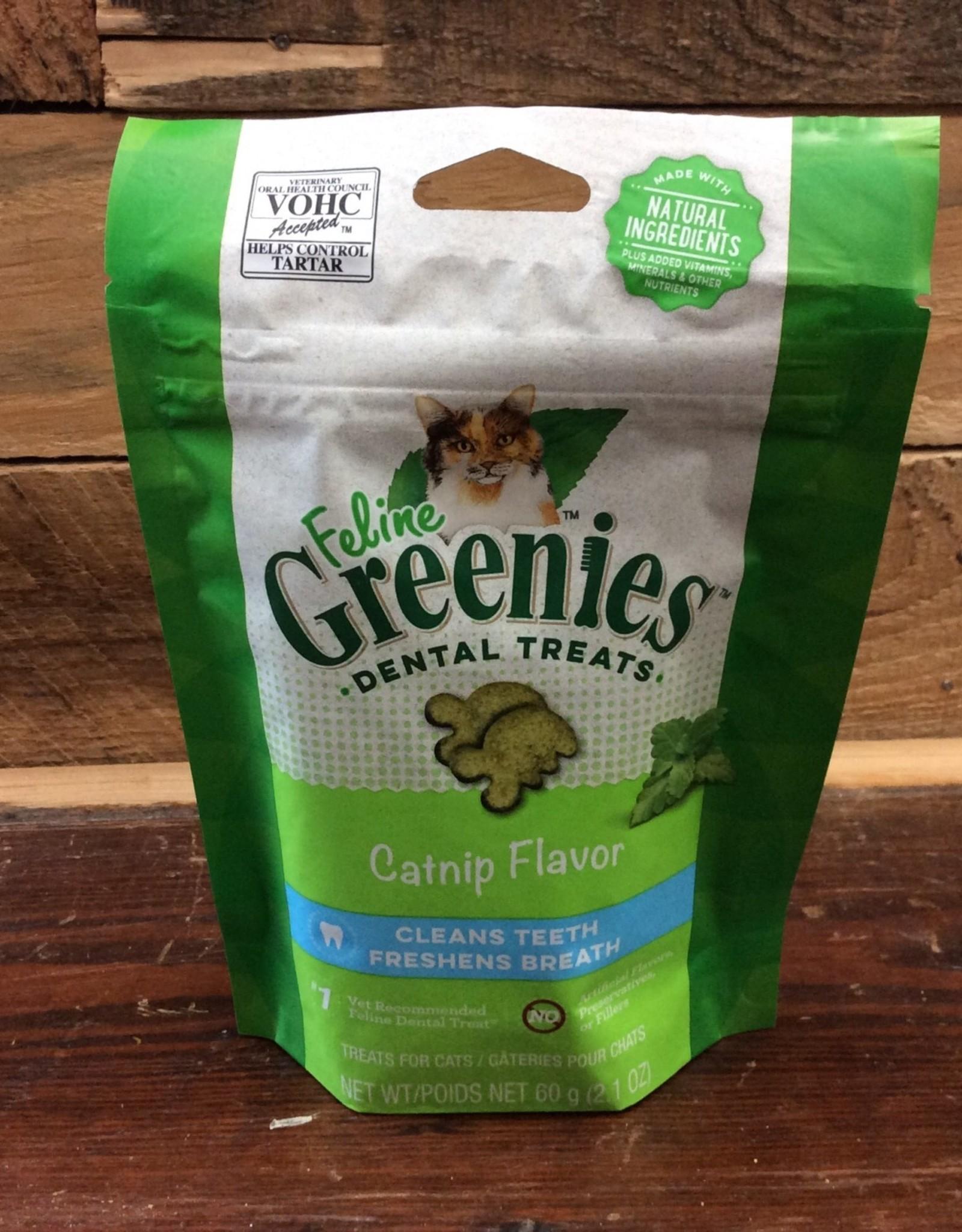 Greenies Feline Dental Treat 2.1oz Catnip