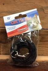 Coastal Pet Products COASTAL POLY CAT TIE-OUT BLACK  1/8X15 FT